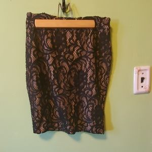 Black lace skirt size 0P
